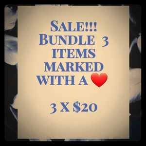 Other - BUNDLE 3 FOR $20
